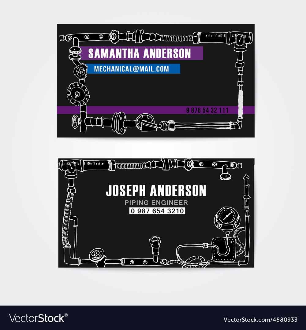 Steampunk style business cards design steampunk vector