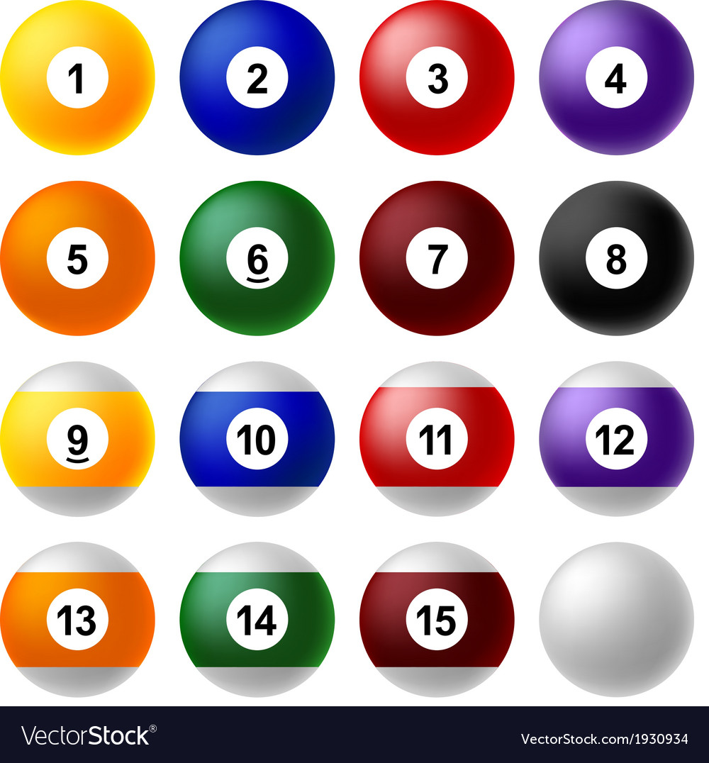Billiard ball set vector