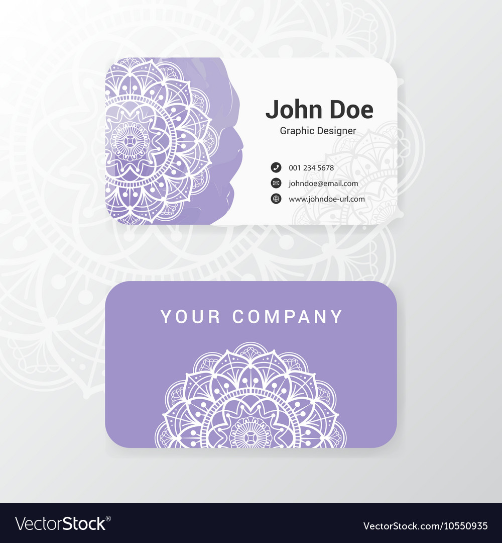 Lovely business name card template design vector
