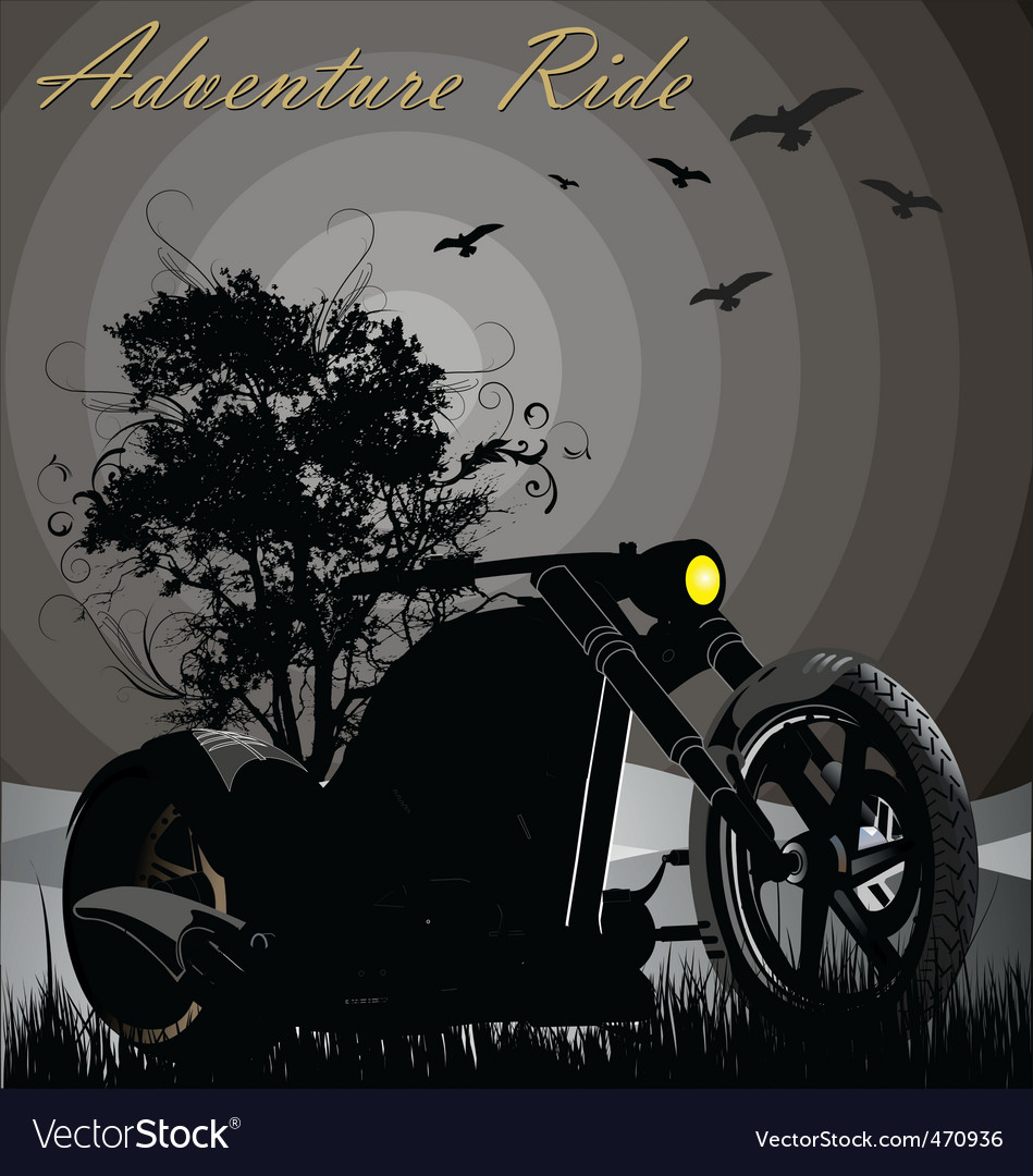 Adventure ride vector