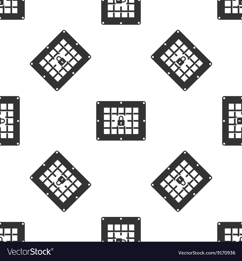 Prison window icon vector