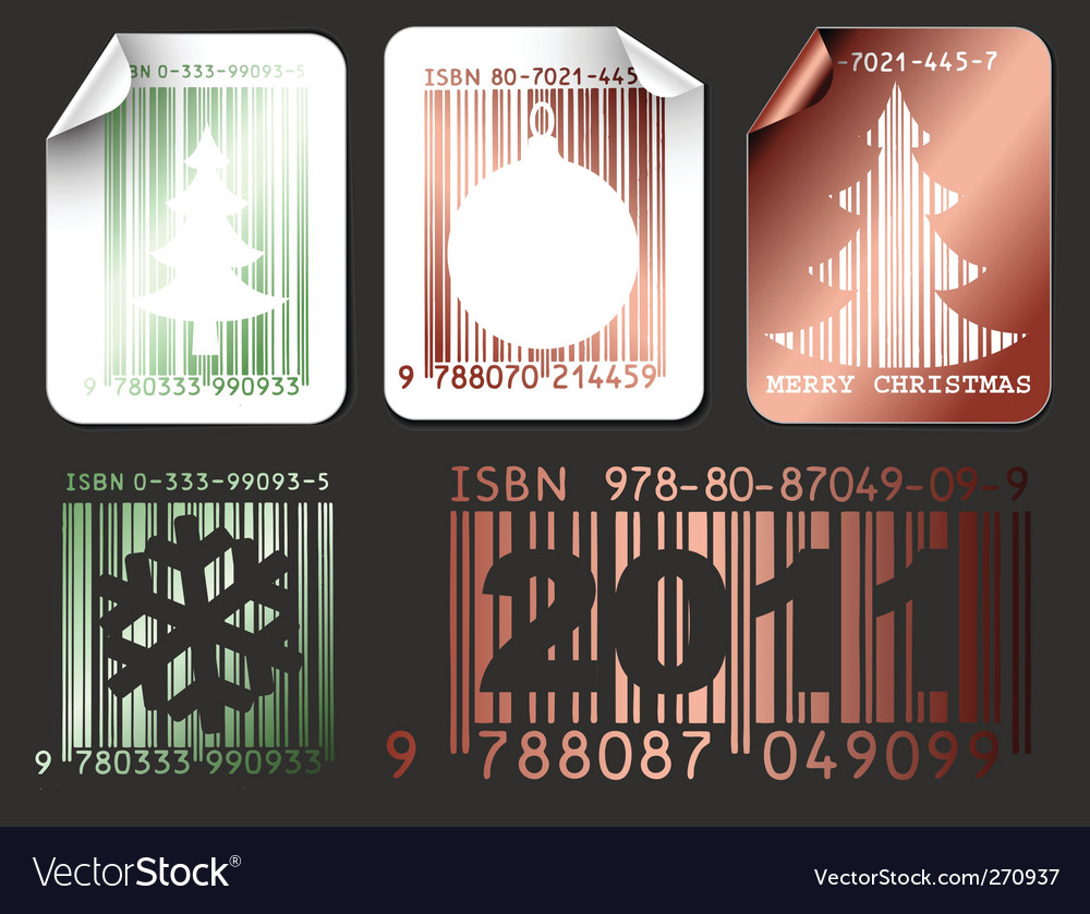 Abstract christmas shopping labels vector