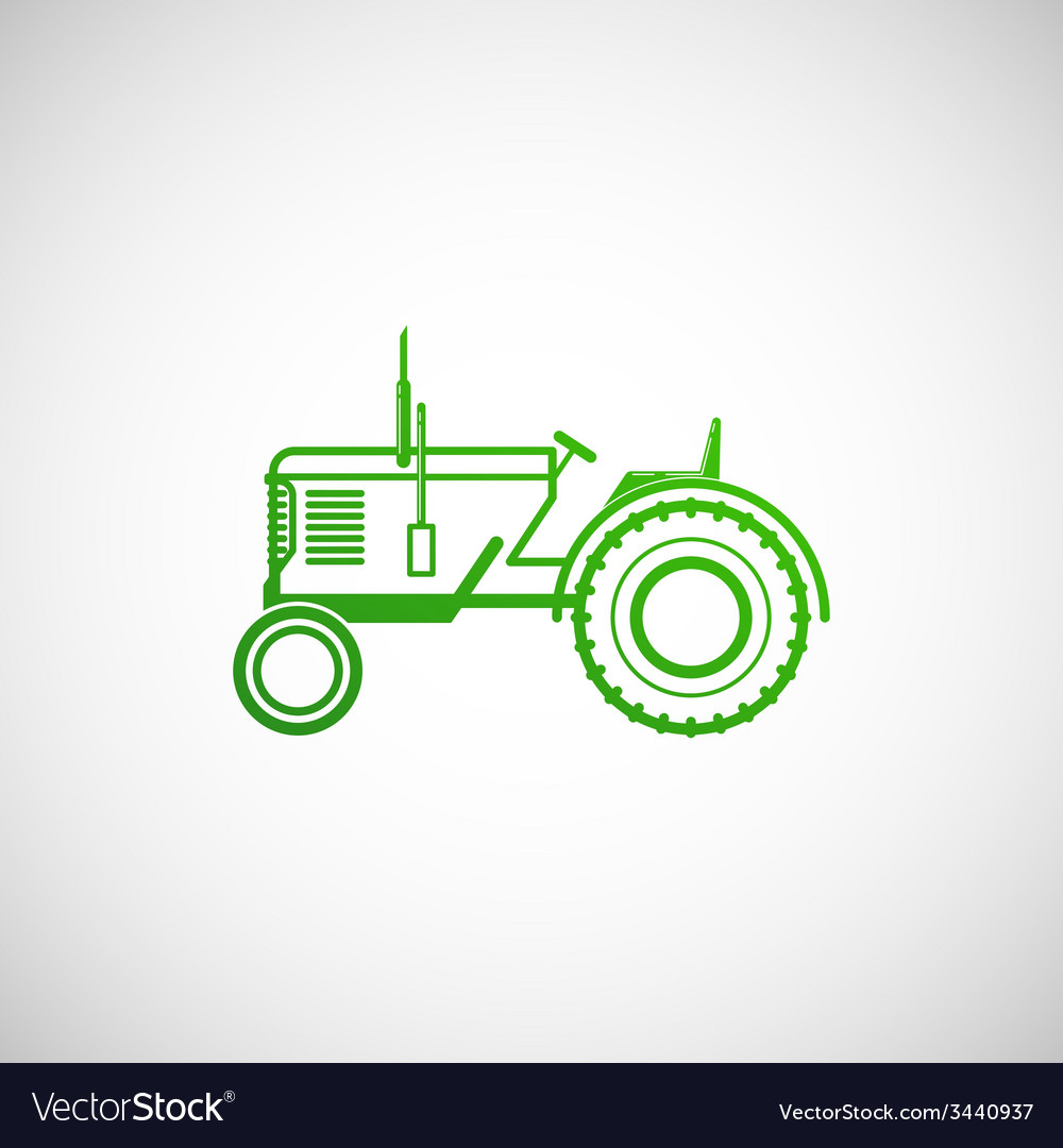 With tractor farm concept vector