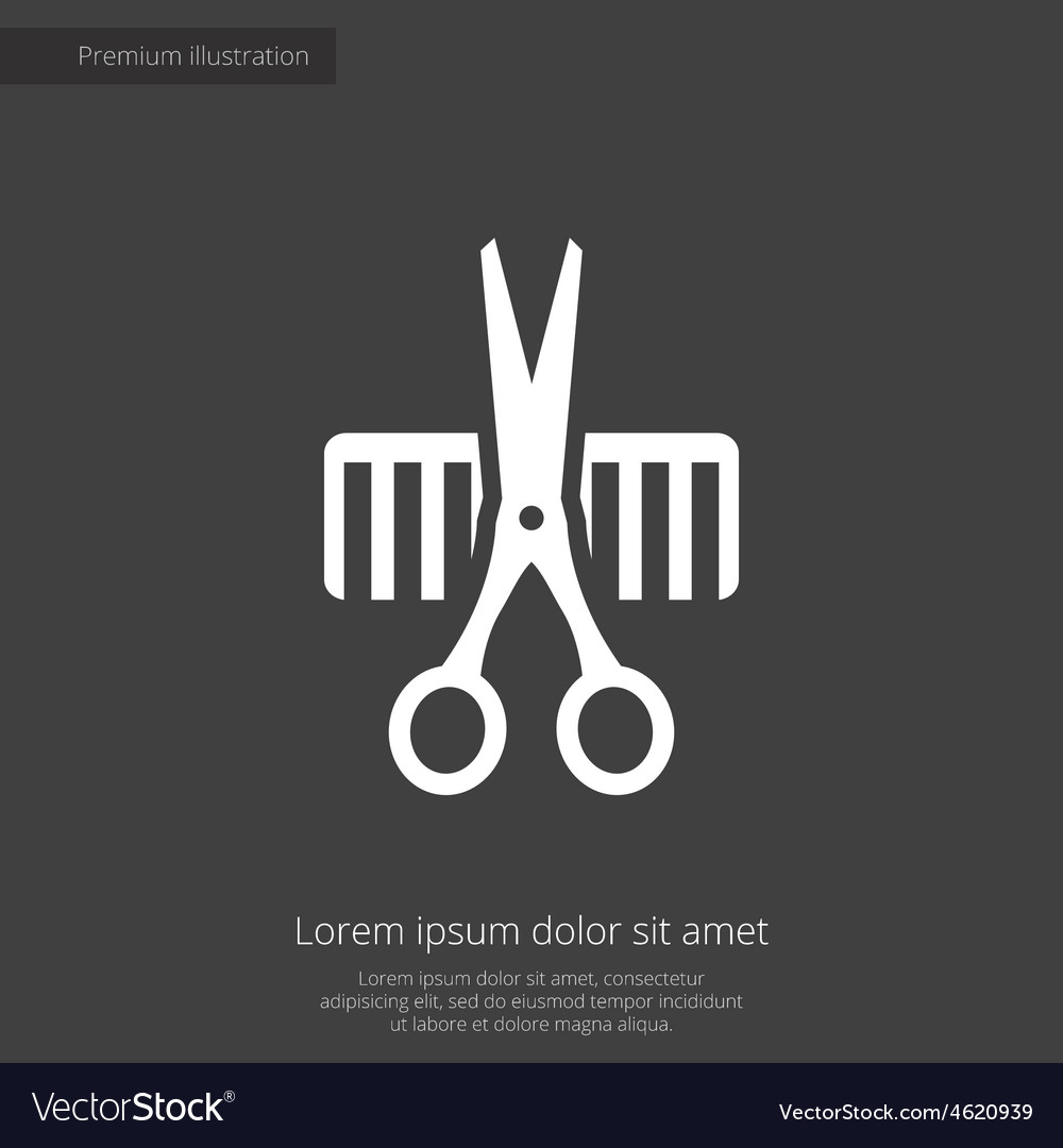 Barbershop premium icon vector