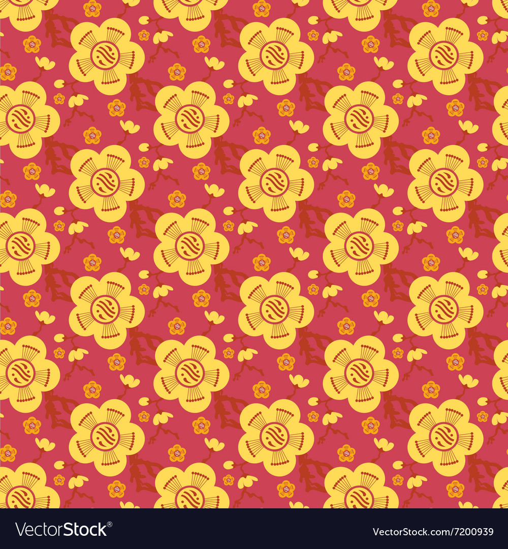 Chinese asian seamless pattern background vector