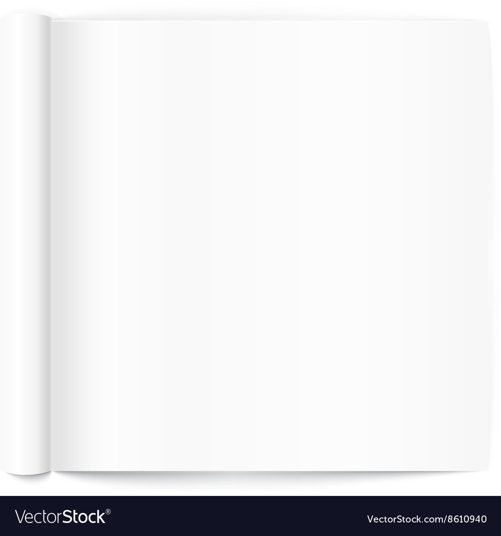 Open book page template ready for a content vector