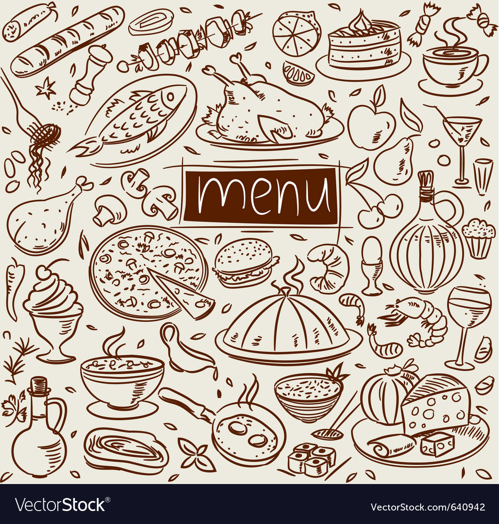 Food sketch vector