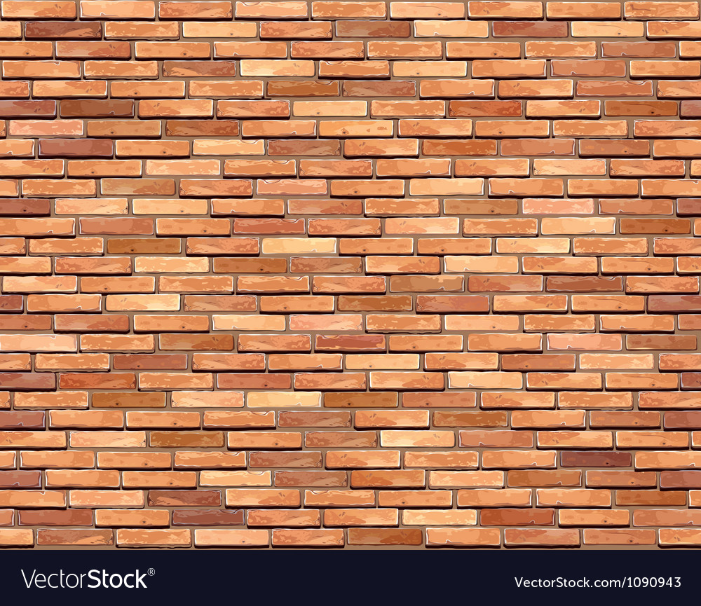 Brown brick wall seamless background vector