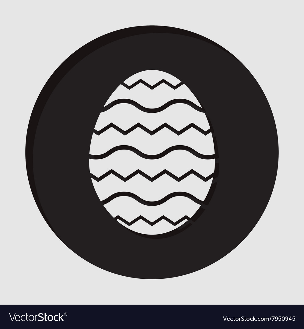 Information icon  easter egg vector