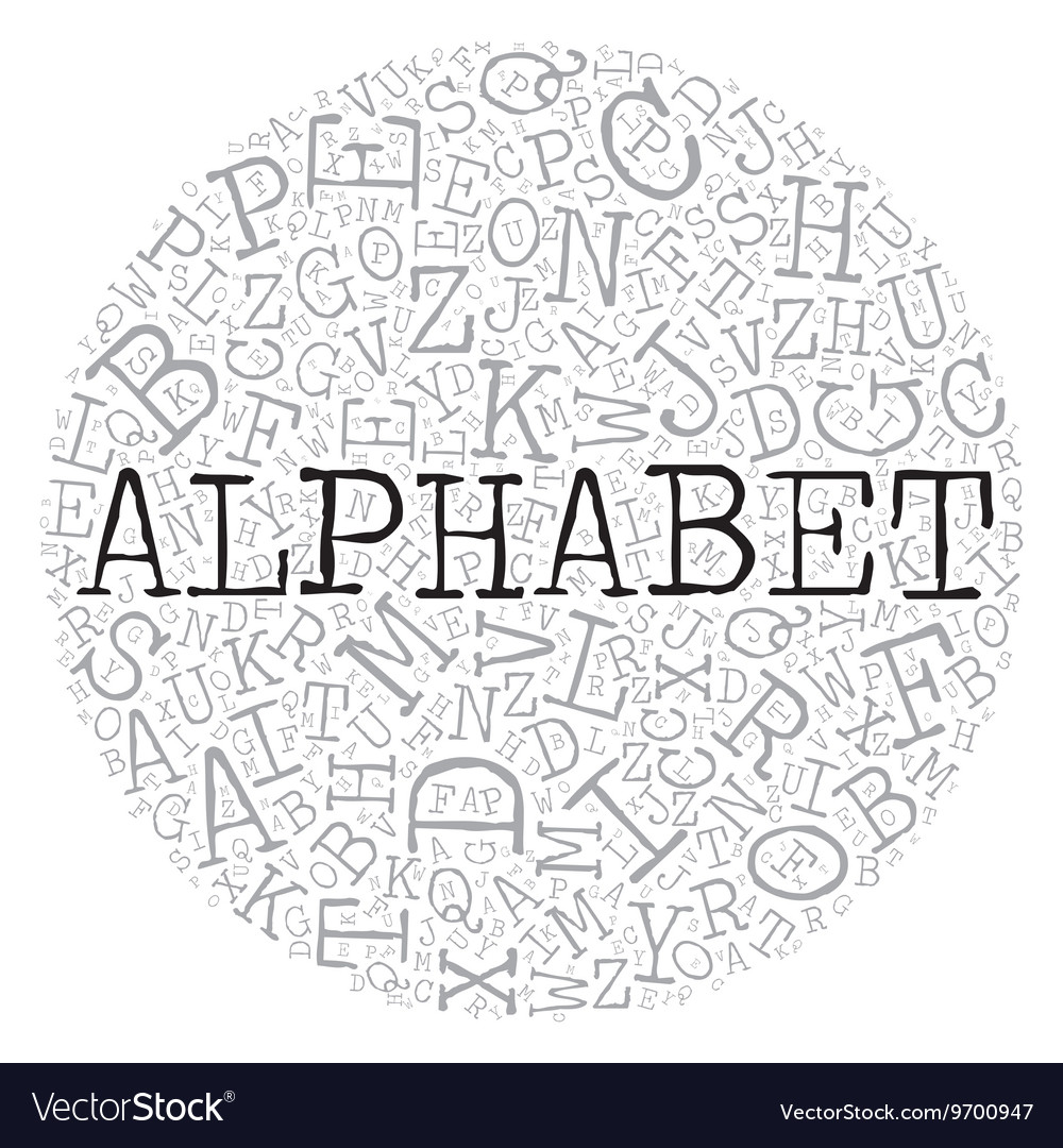 Alphabet circle theme with letter pattern on the vector