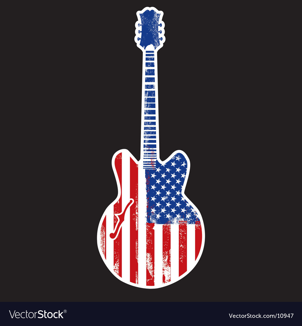 American rock n roll vector
