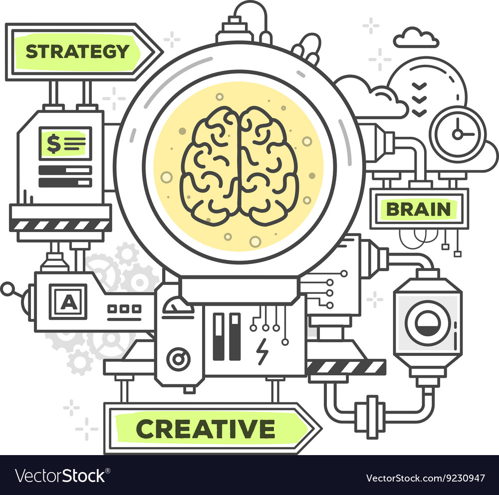 Creative professional mechanism to create vector