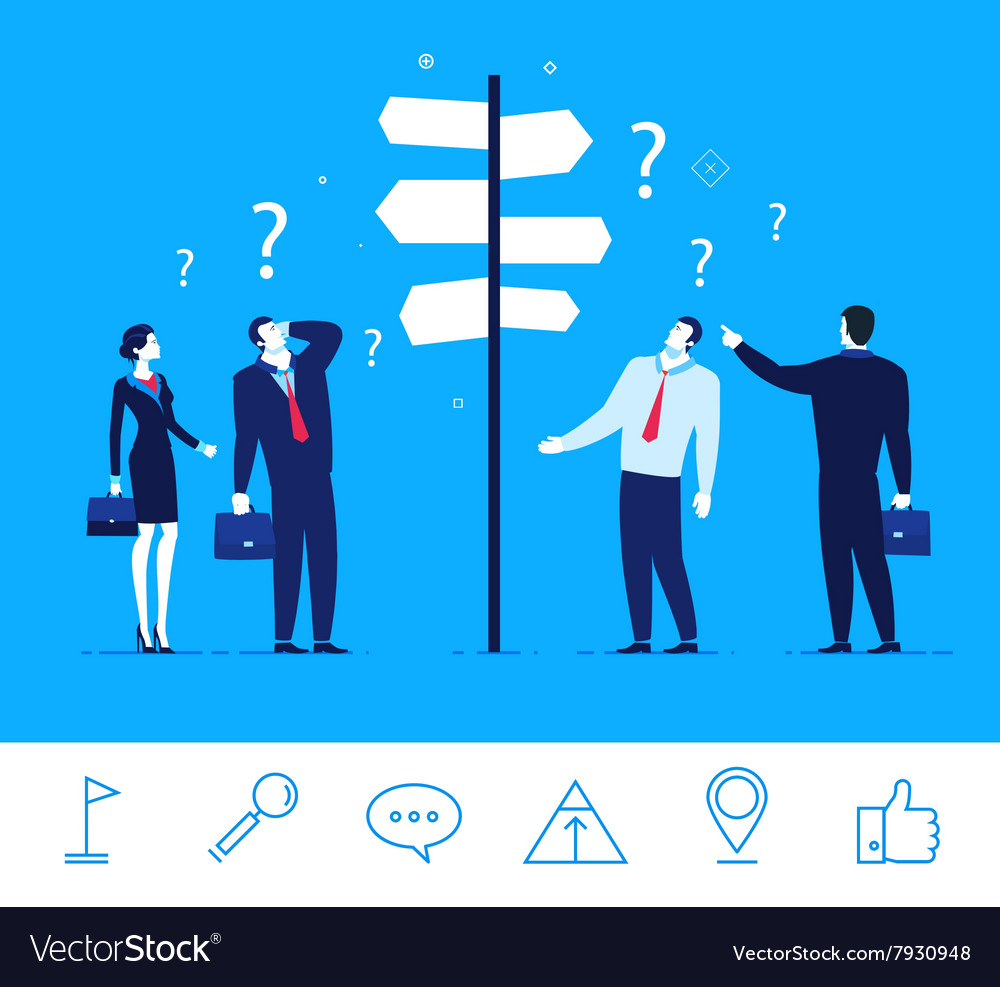 Business concept businessmen vector