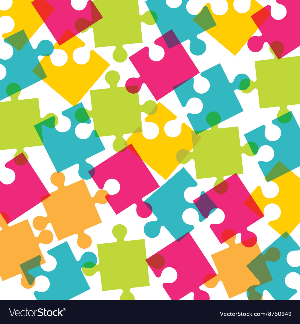 Puzzle pieces design vector