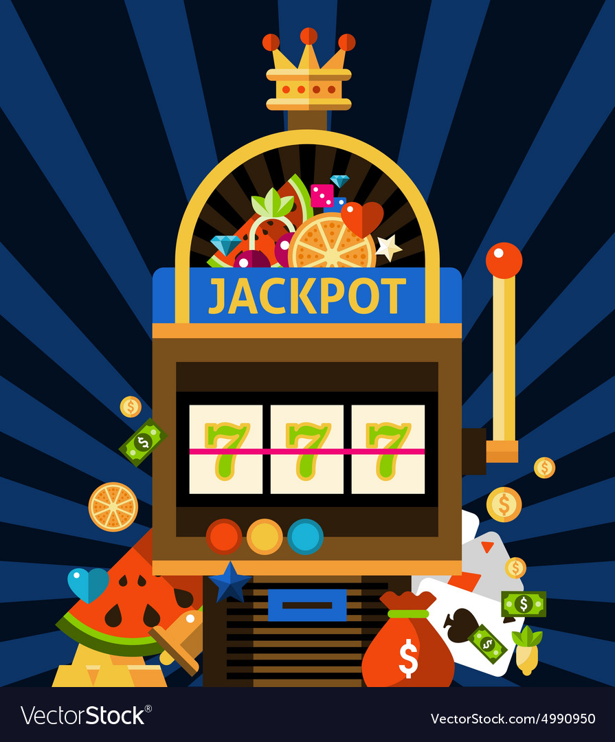 Slot machine concept vector