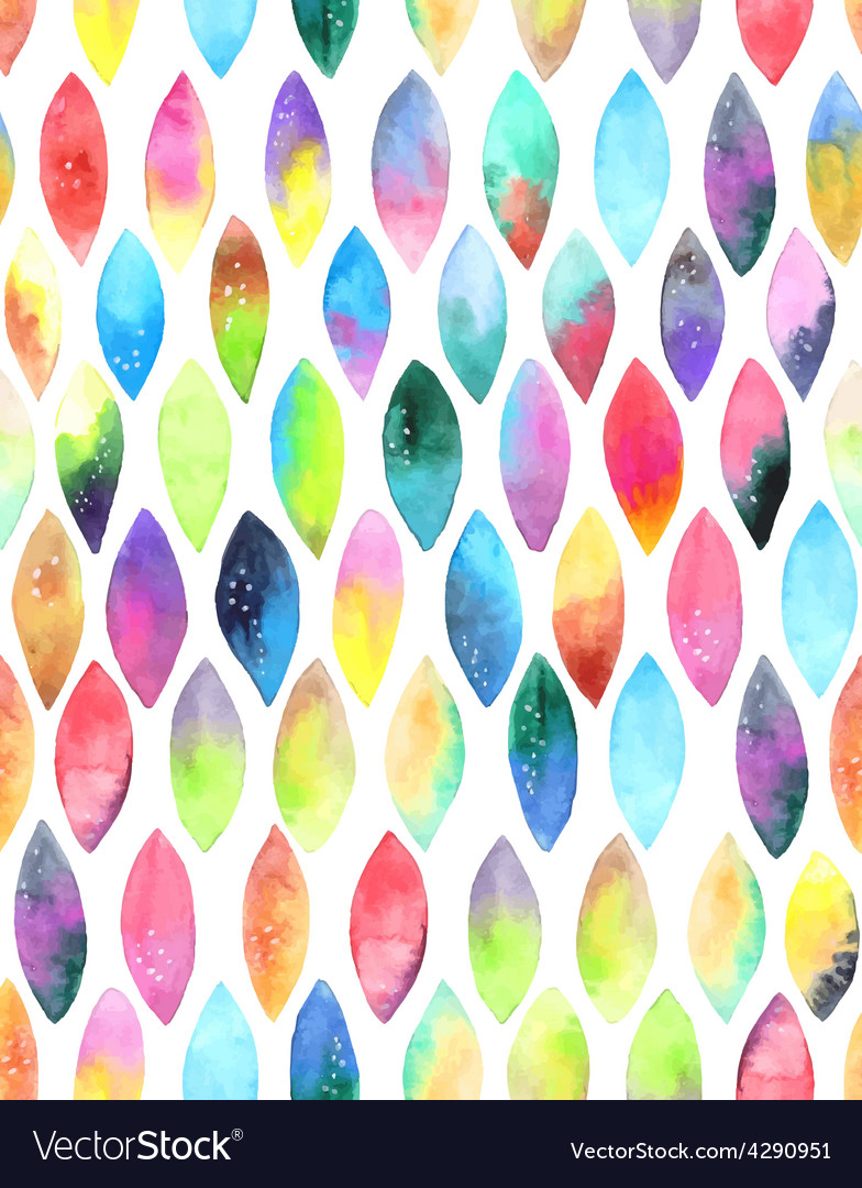 Seamless pattern of paint splash watercolor drops vector