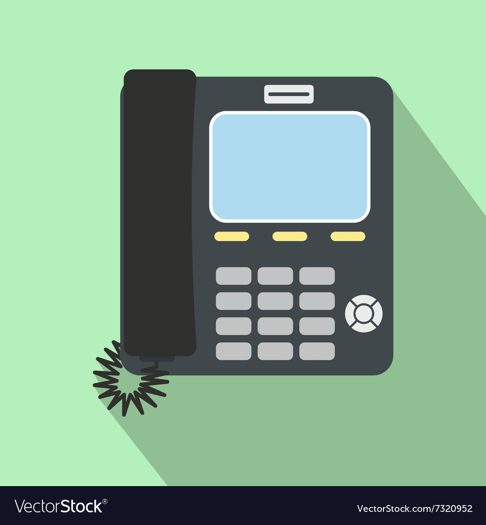 Office phone flat icon vector