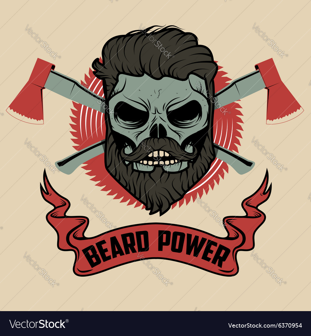 Beard power vector