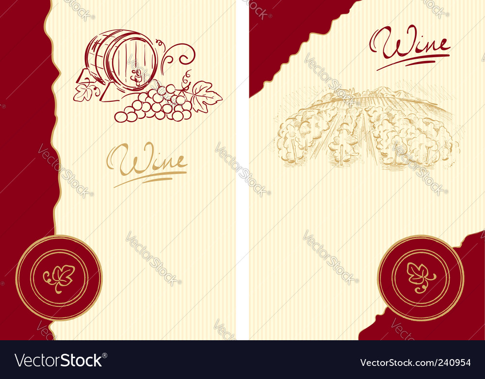 Classic wine label vector