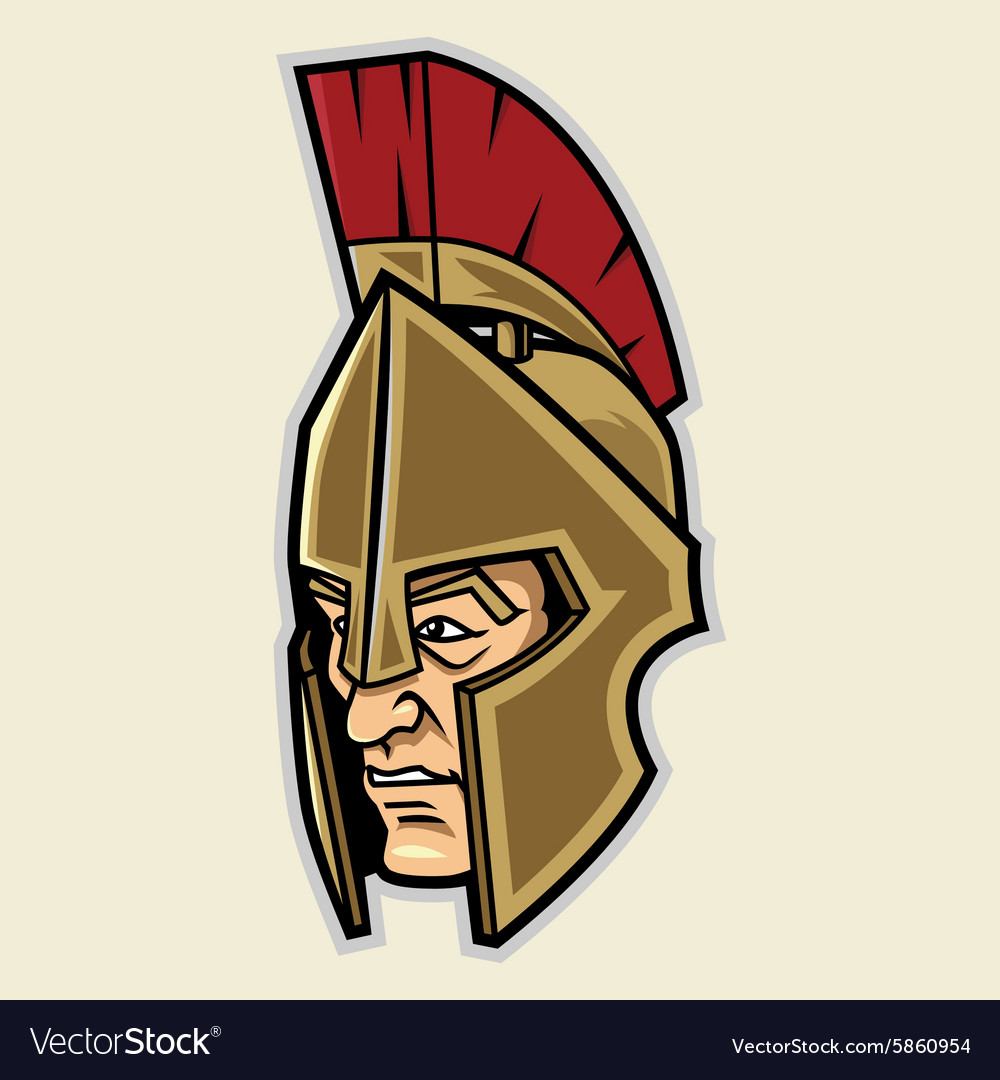Spartan head vector