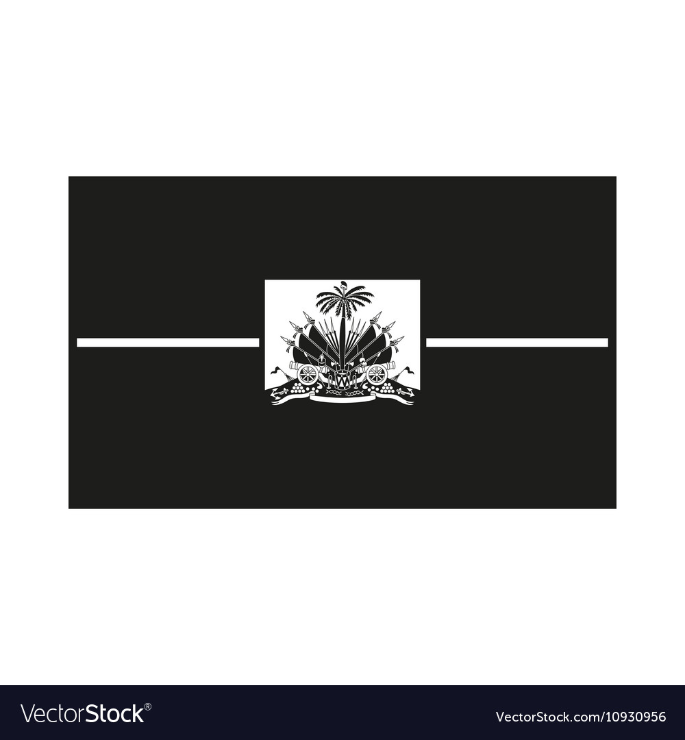 Haiti flag monochrome on white background vector