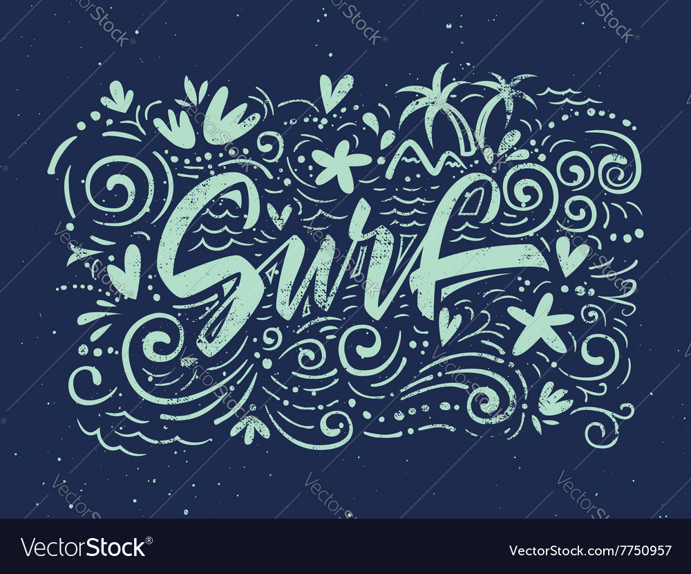 Surf to print tshirts vector