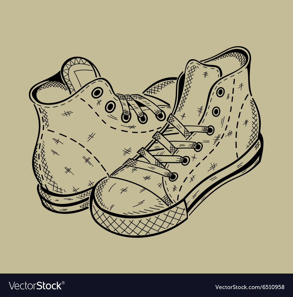 Image of sneakers sport shoes vector