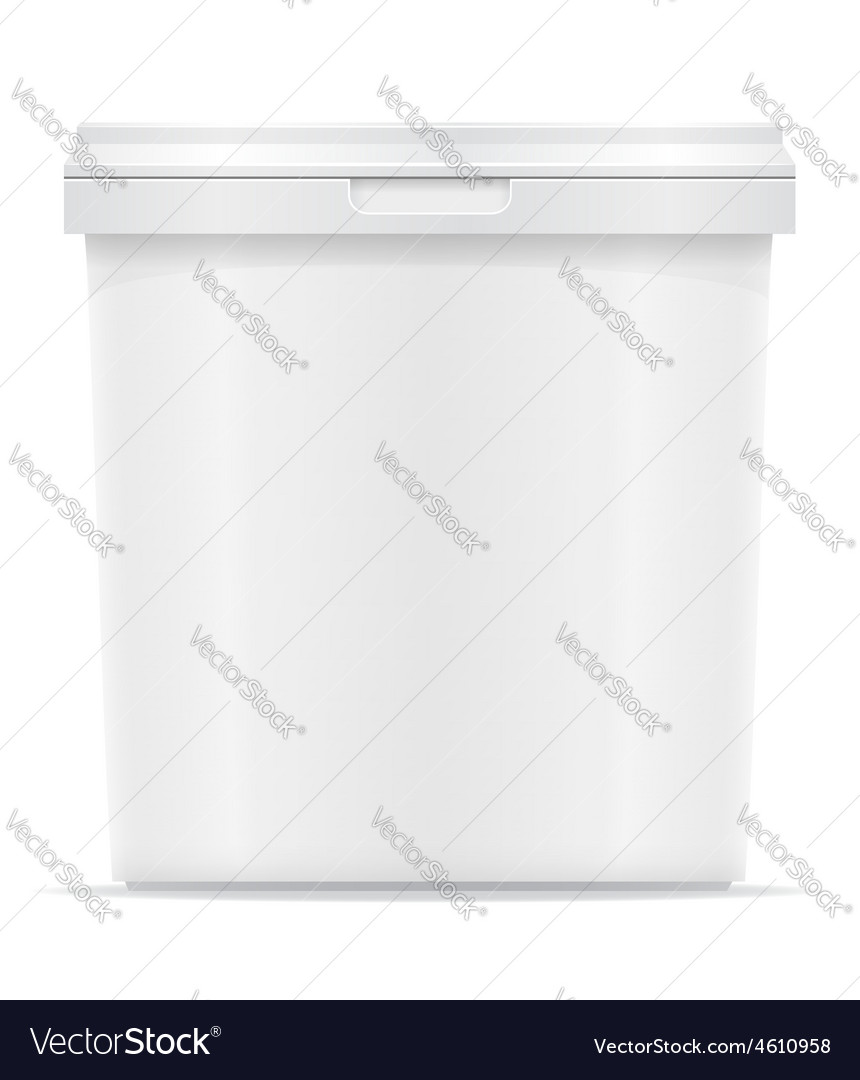 Plastic container for ice cream or dessert 04 vector