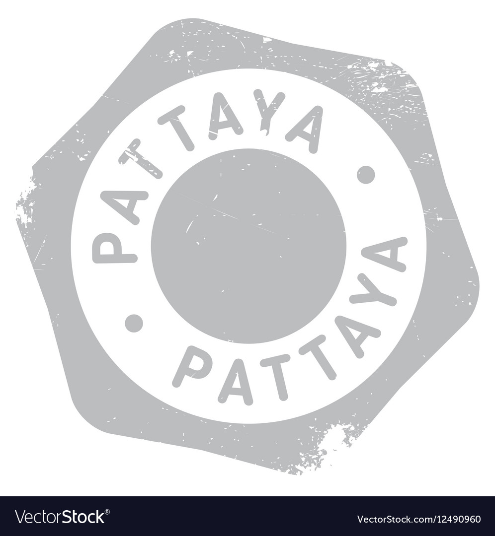 Pattaya stamp rubber grunge vector