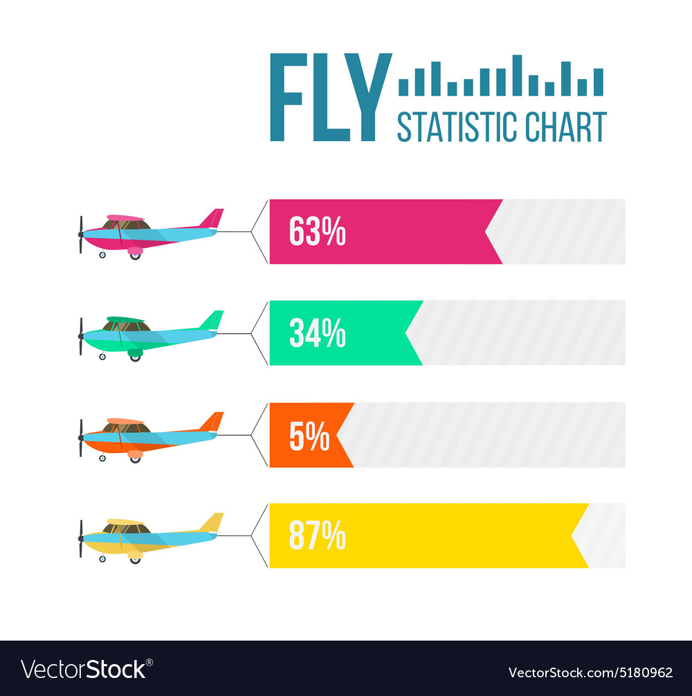 Flying planes set with banners vector