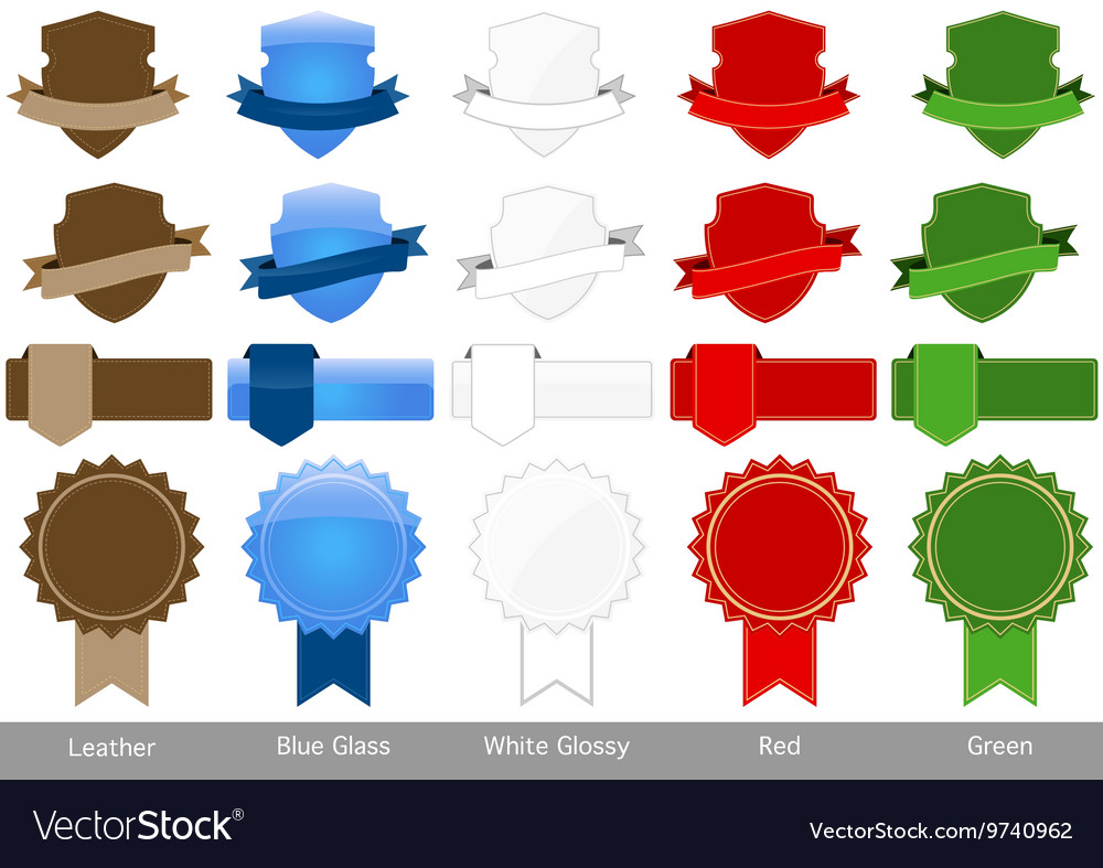 Label tag banner collection vector