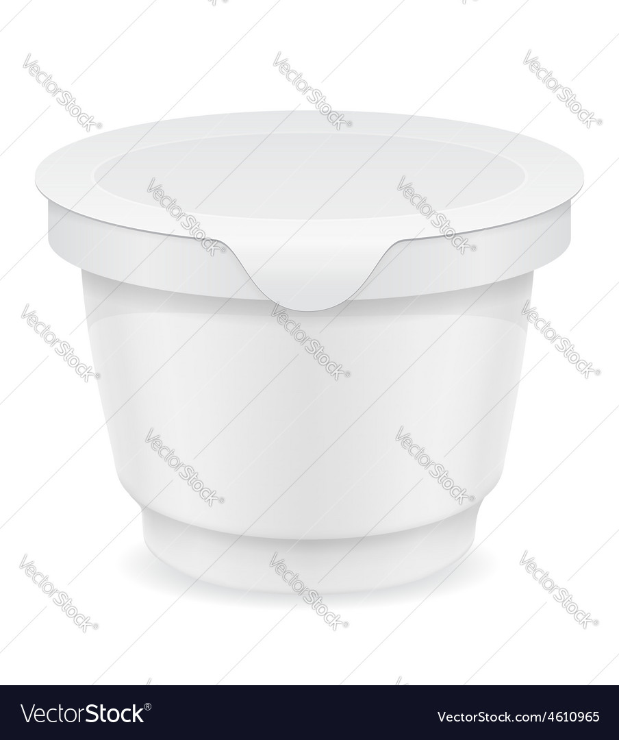 Plastic container of yogurt or ice cream 03 vector