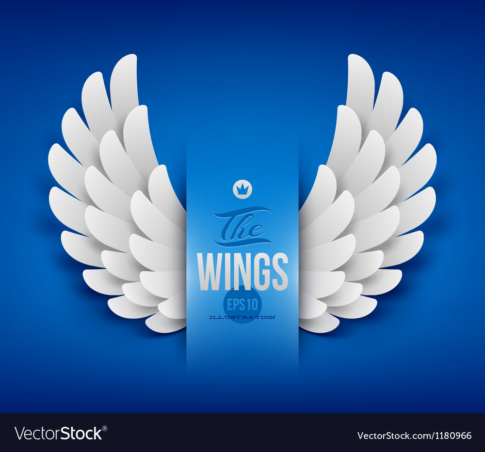 Artificial paper wings  vector