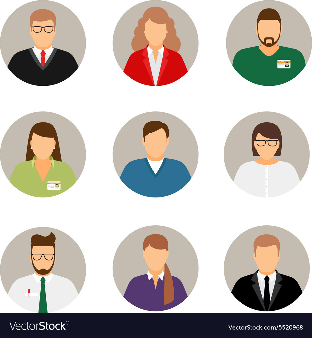 Businesspeople avatars vector