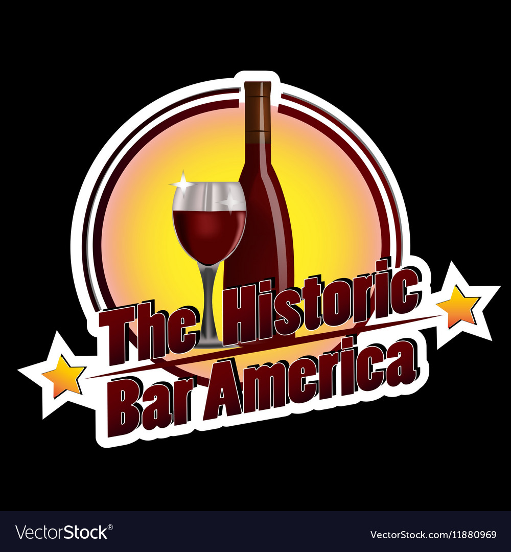 Historic bar america vector