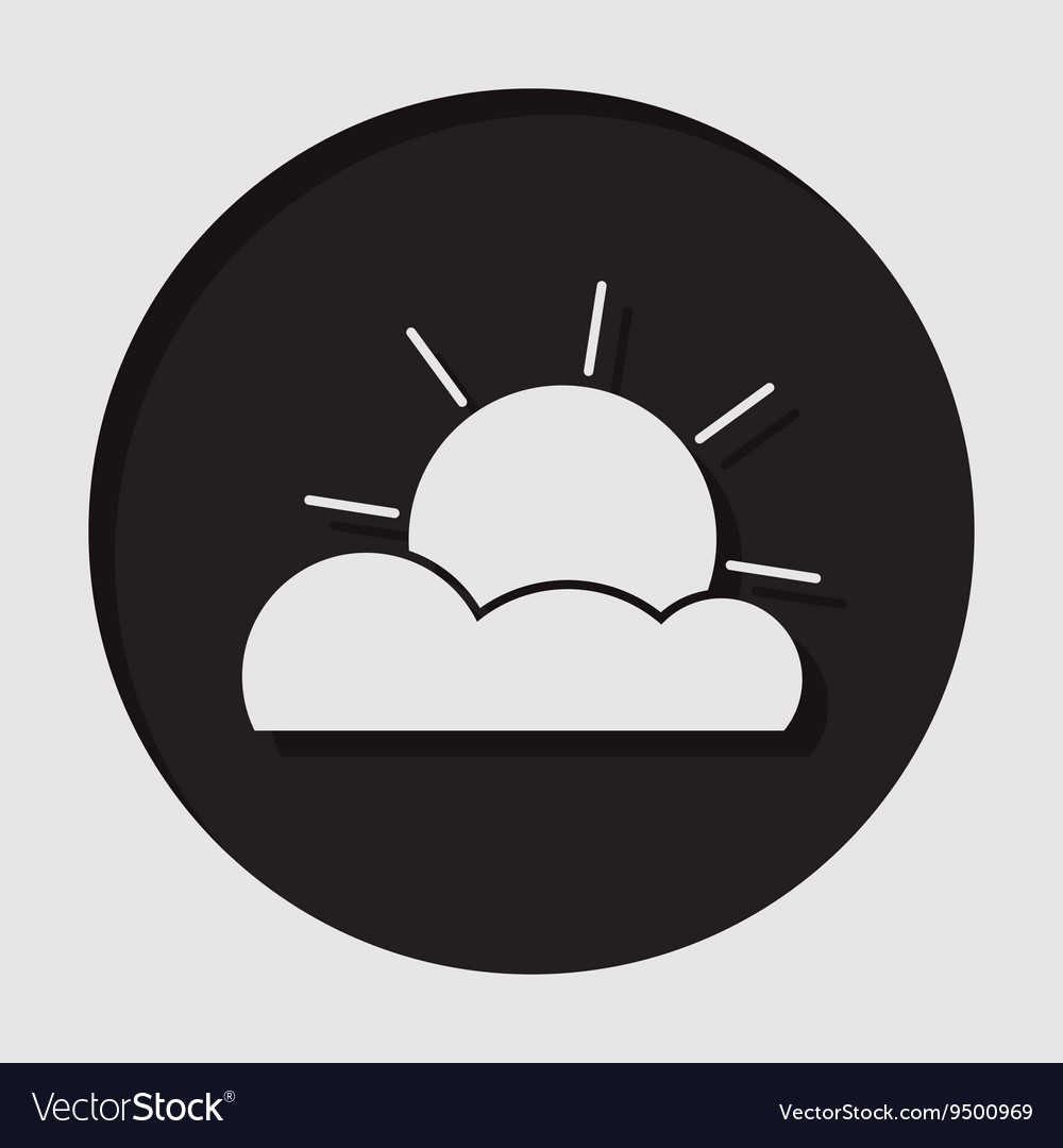 Information icon  partly cloudy vector
