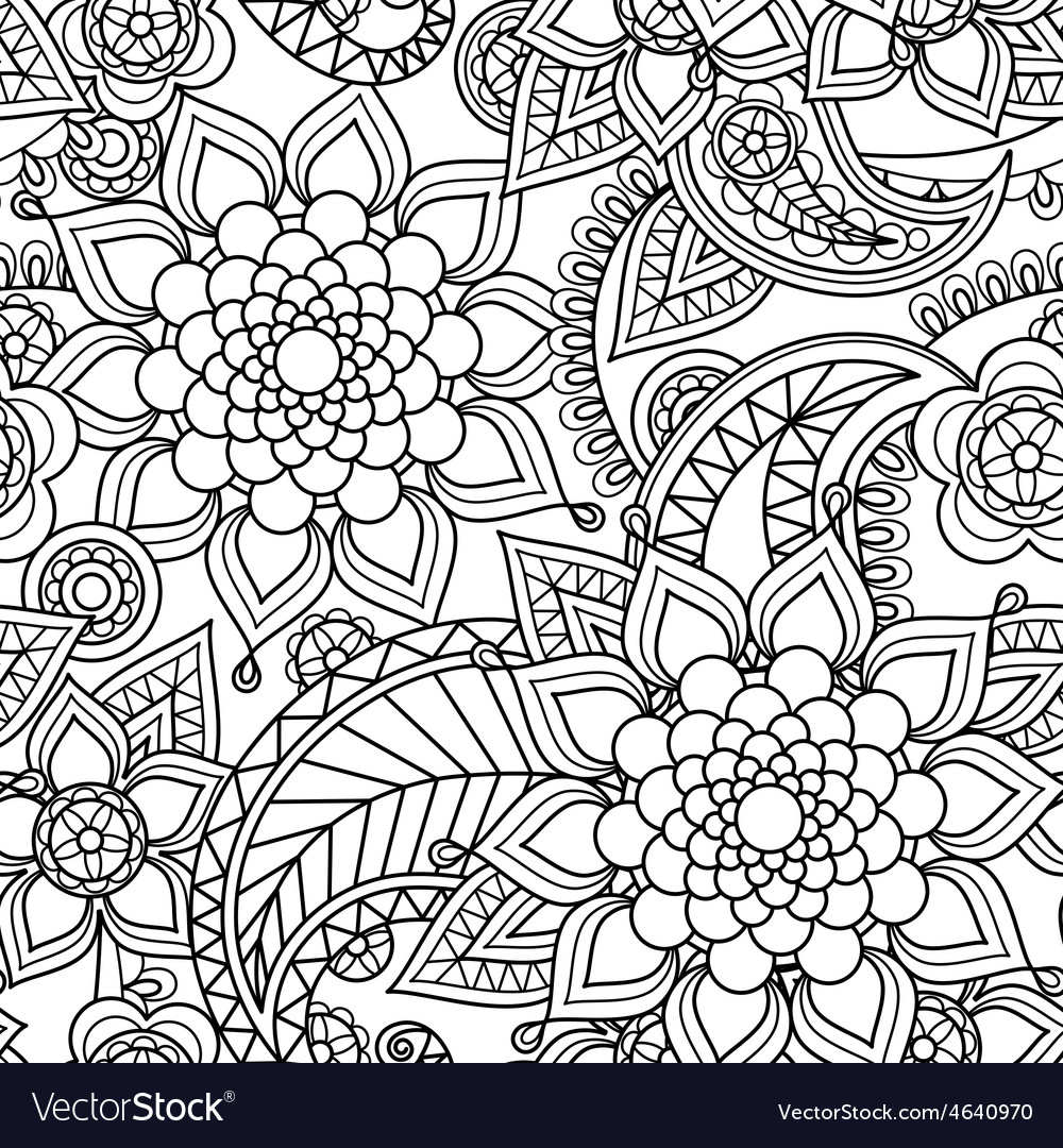 Seamless asian paisley pattern vector