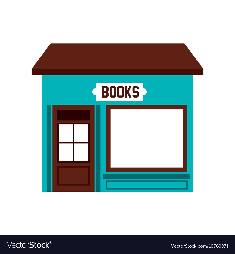 Books store building icon vector