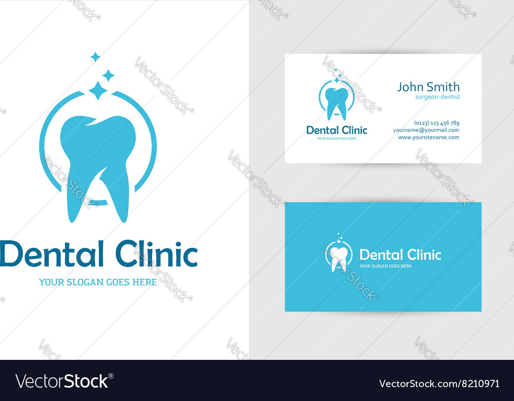 Dental clinic logo with tooth vector