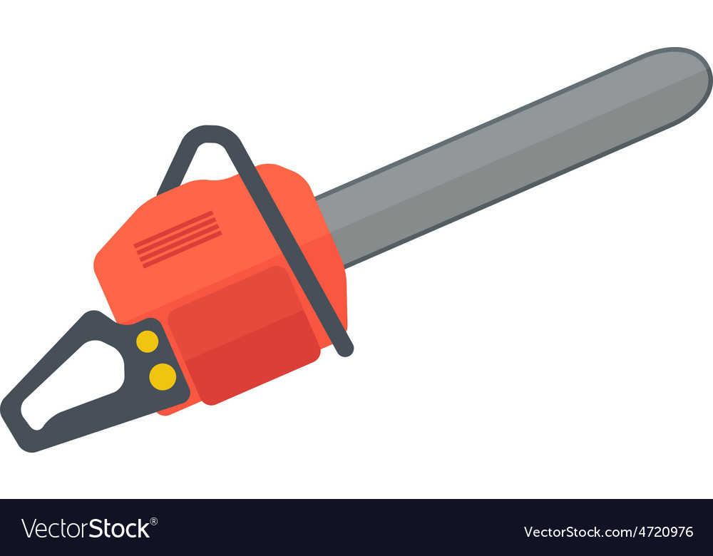 Heavy duty chainsaw vector