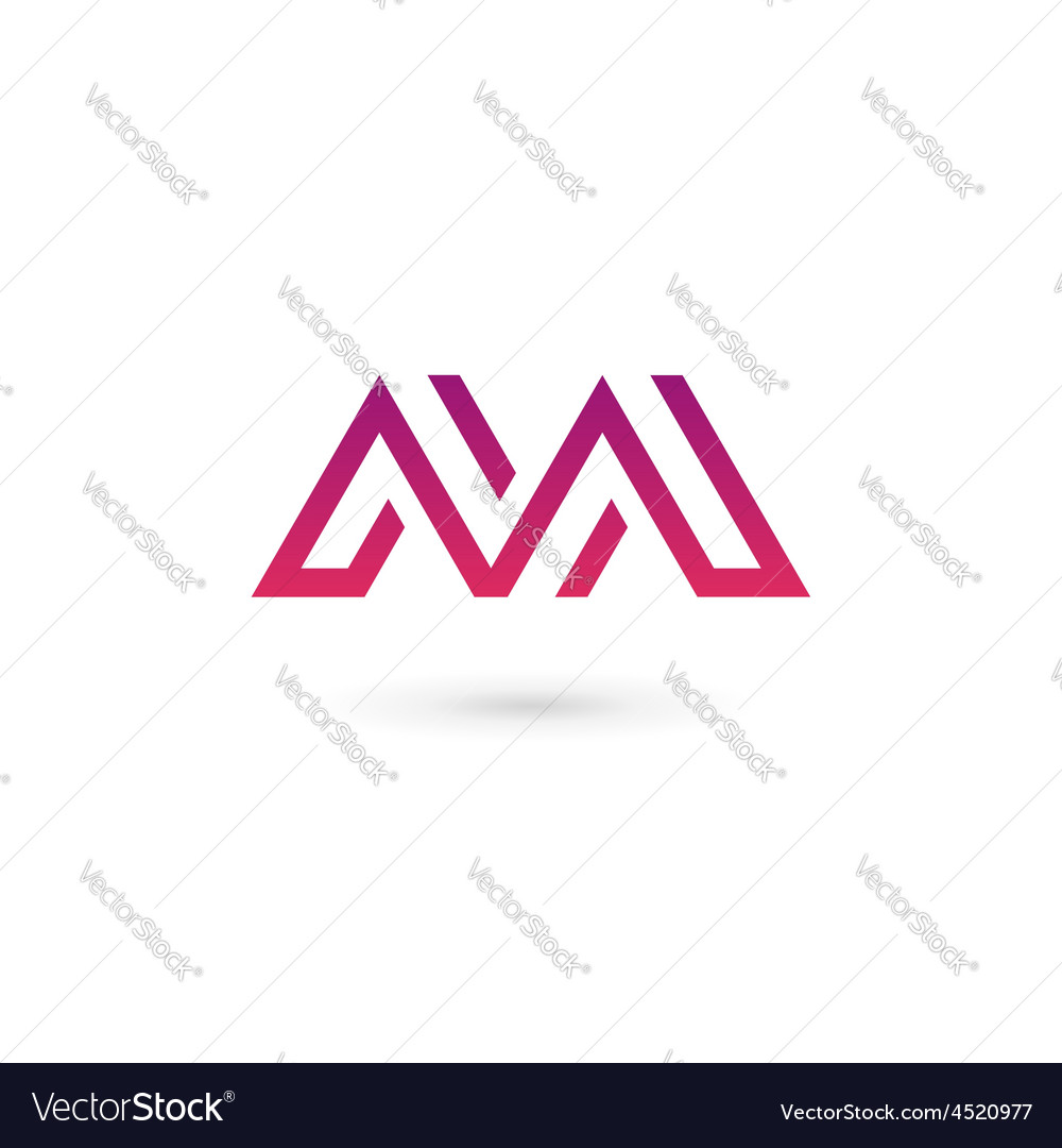Letter m logo icon design template elements vector