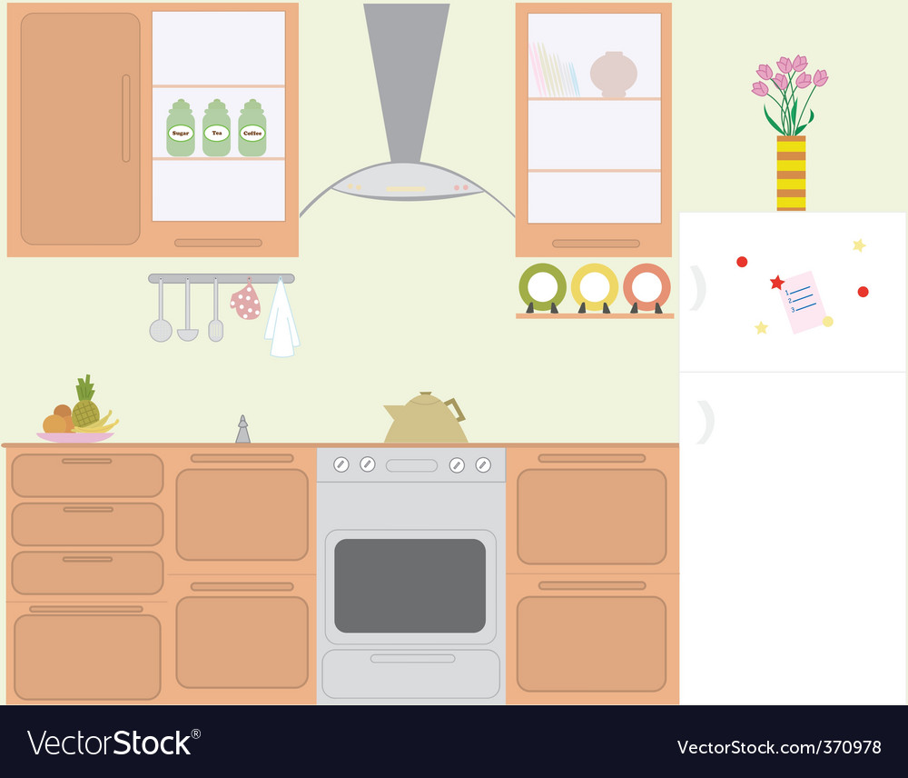 Gas hob kitchen vector