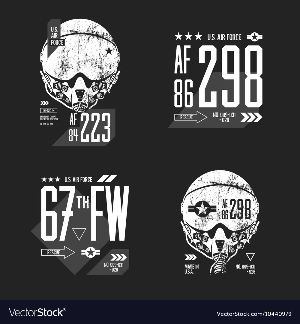 Modern american air force old grunge effect vector