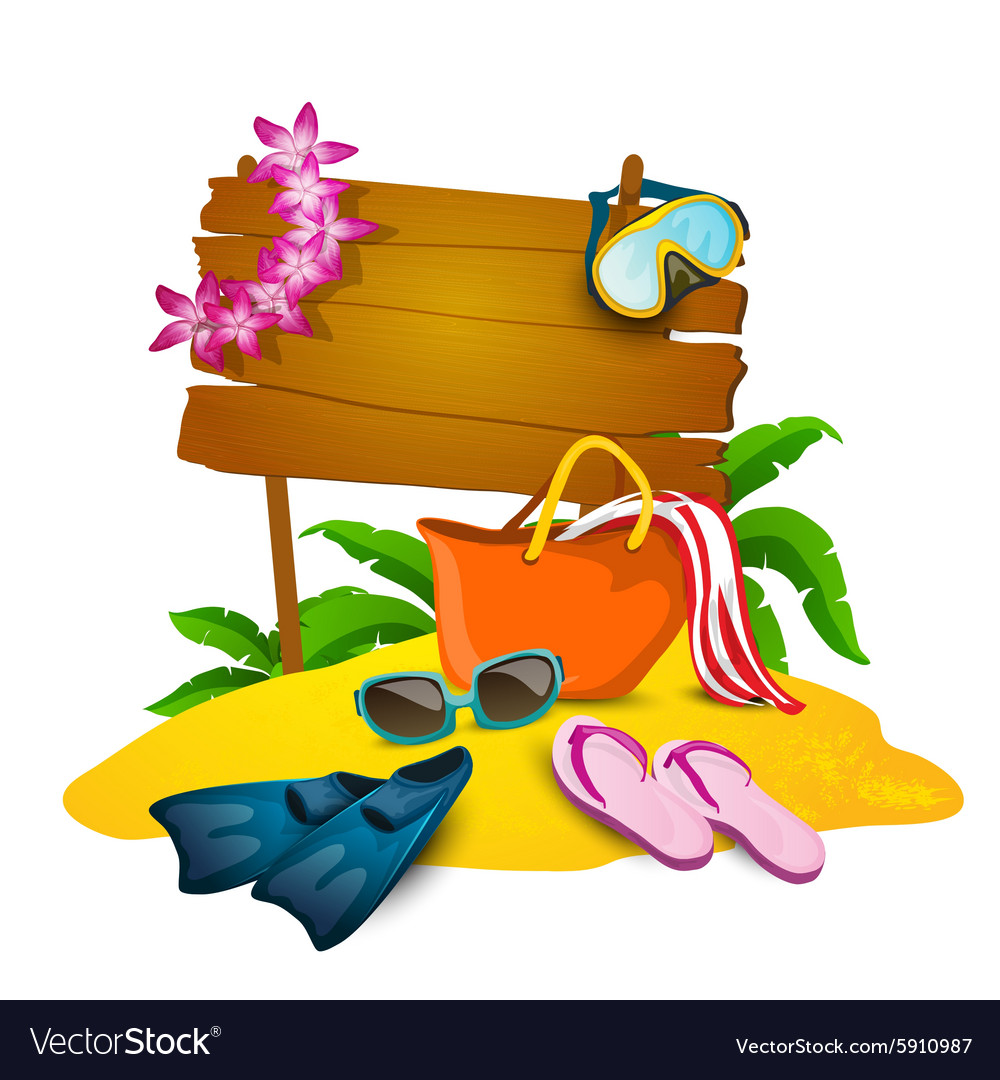 Beach and summer background vector