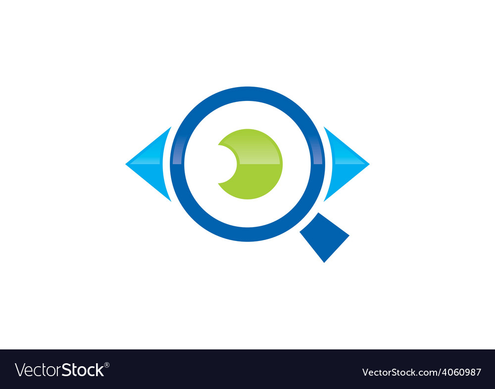 Eye vision search logo vector