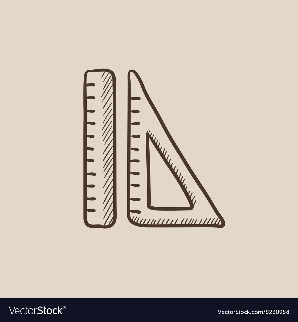Rulers sketch icon vector