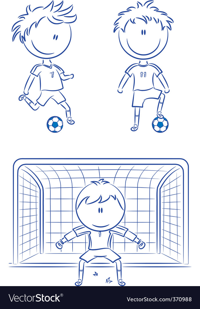 Soccer players vector
