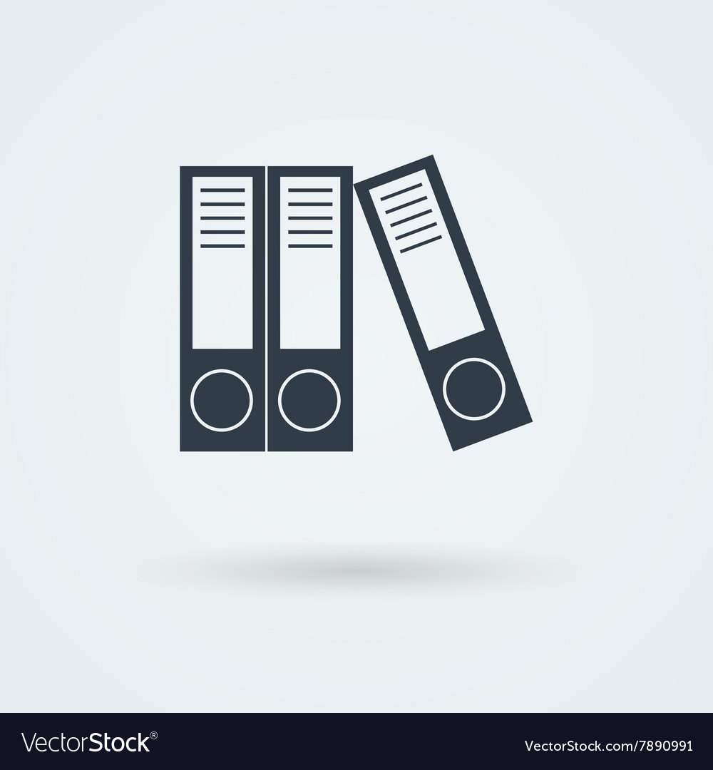 Archive folders for paper icon vector