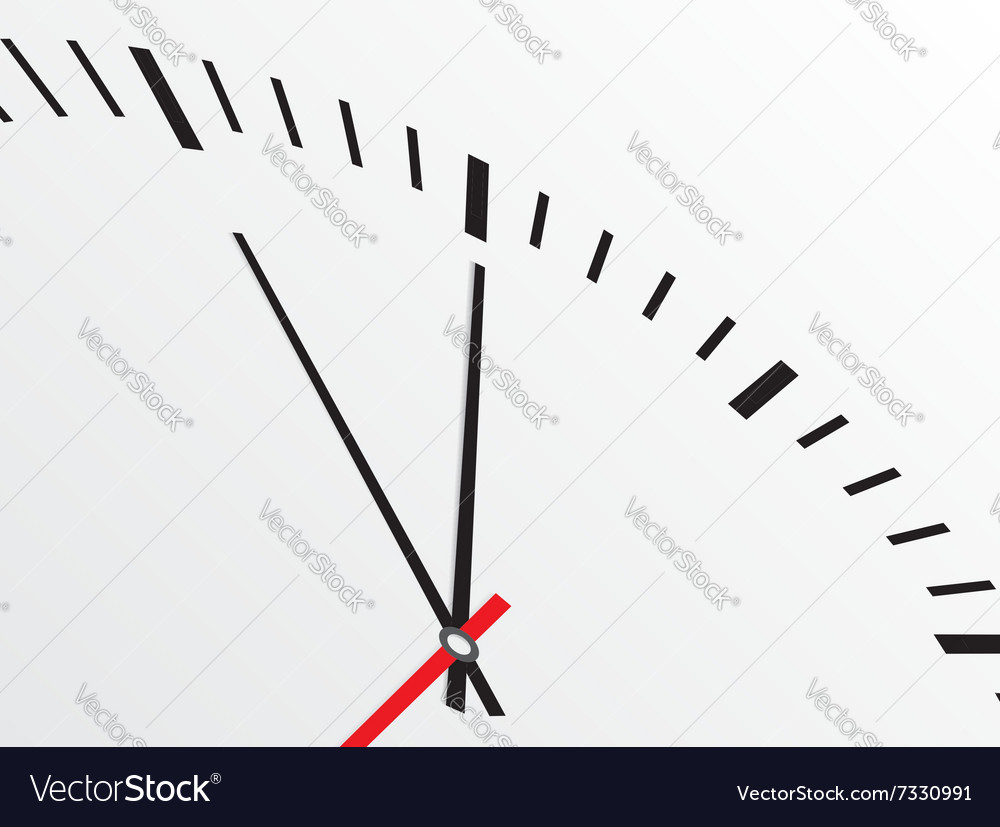 Clock isolated on white background vector