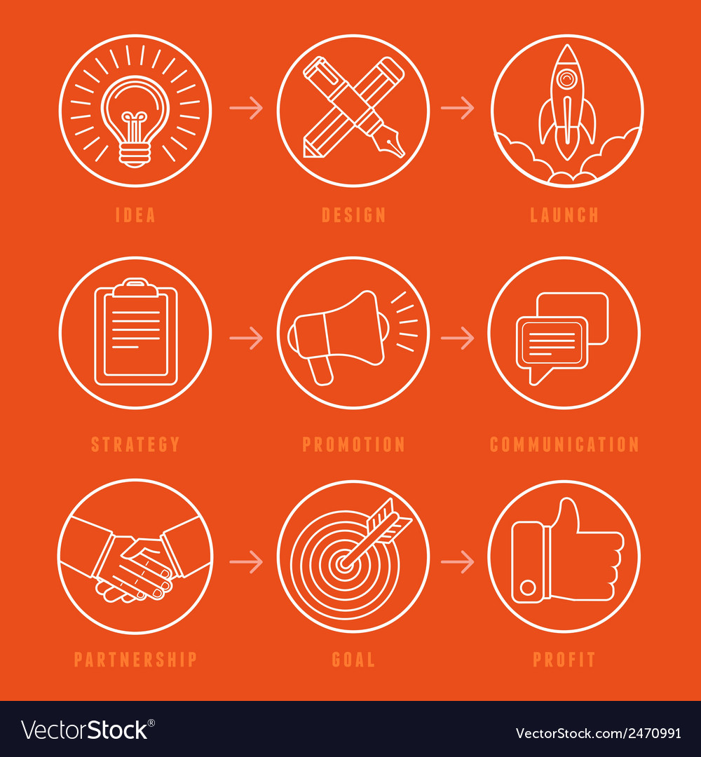 Creative idea concept in outline style vector